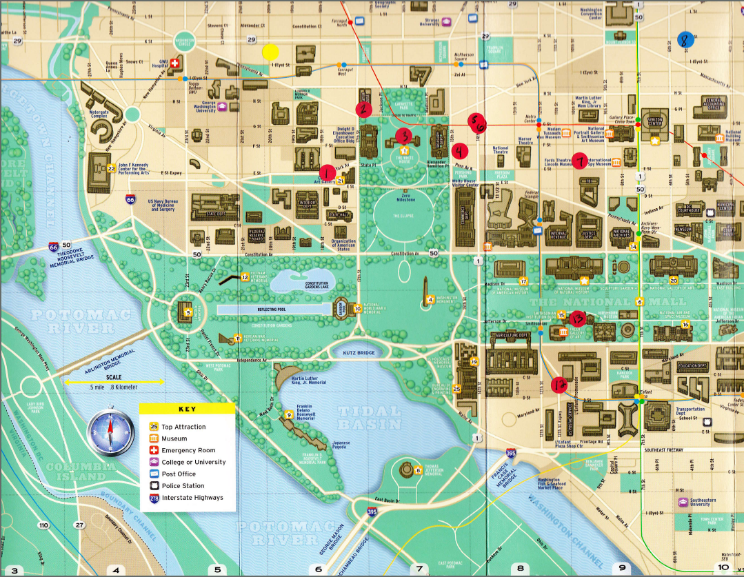 Washington DC Map National Mall Maps NPMapscom Just Free Maps - Washington dc area map pdf