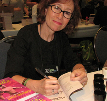 Pamela at the RWA literacy signing 2012