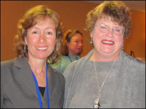 Pamela and Charlaine HArris at the 2010 WRW Retreat