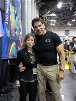 Pamela and Lou (the Hulk) Ferrigno
