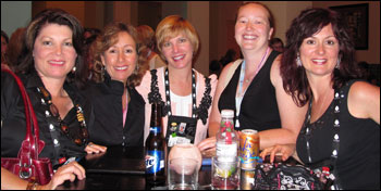 Juliana Stone, Pamela, Terri Garey, Jocelynn Drake, and Joss Ware at the RWA conference in Orlando, 2010