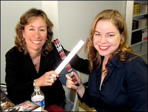 Pamela and Jeaniene Frost at Turn the Page Bookstore Feb. 2011